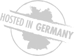 Hosted in Germany Logo